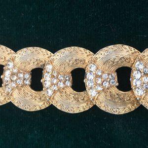 Vintage Hobe Rhinestone Bracelet